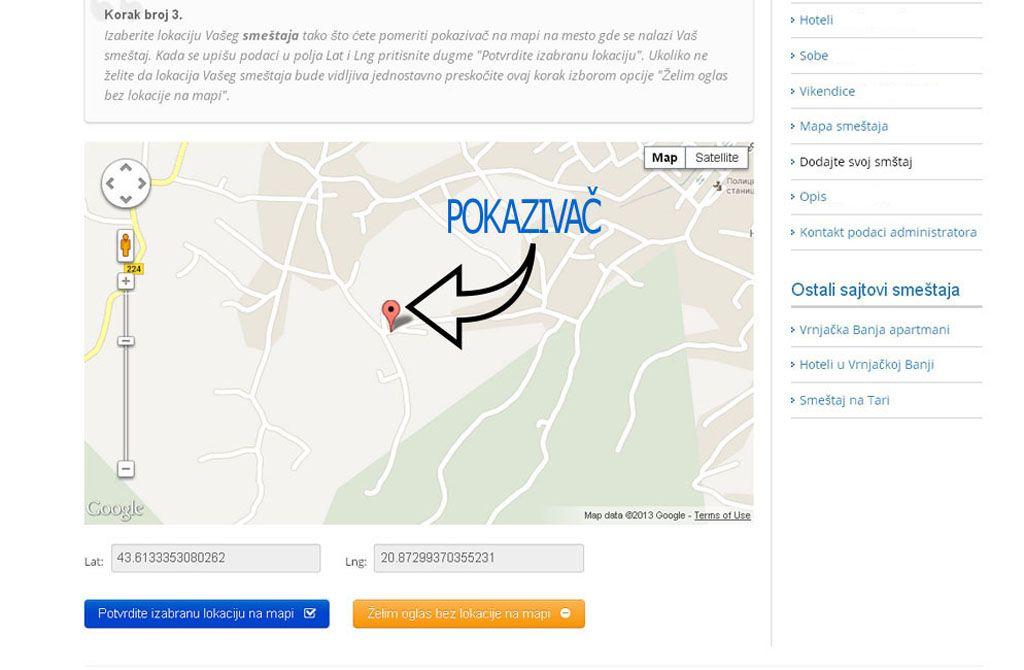Srebrno jezero  - postavljanje oglasa -  slika 3.